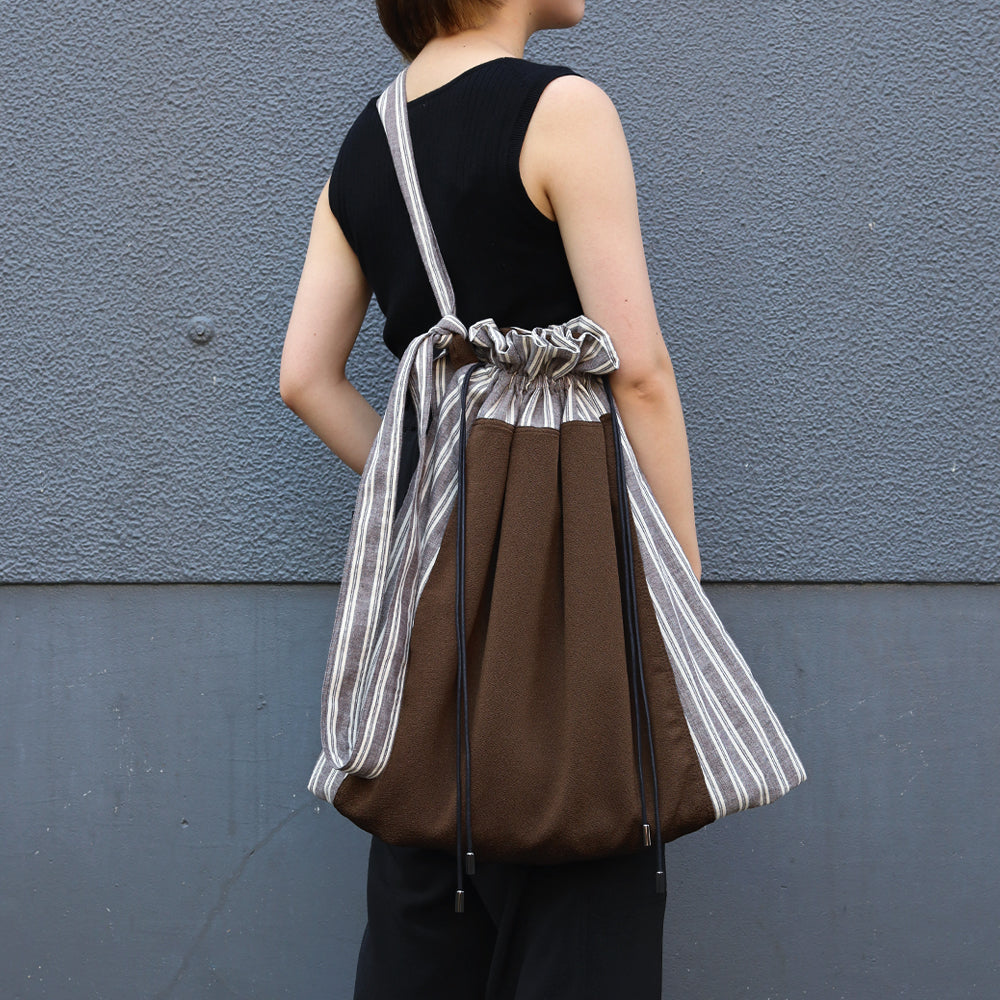 CITY&HOME DRAWSTRING TOTE[BROWN]