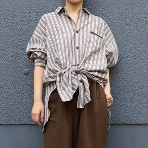 CITY&HOME WORK SHIRT[BROWN]
