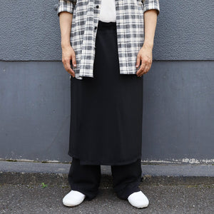CITY&HOME APRON SKIRT[BLACK]