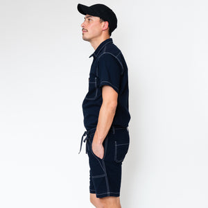 SUMMER WORKER JUMPSUITS [NAVY/BLUE/BROWN]