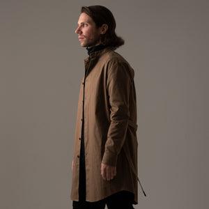 COVERED LONGCOAT [BLACK/CAMEL/OLIVE/KAHKI]