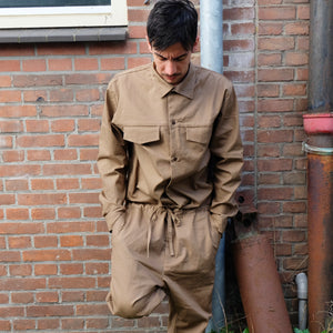 COVERED JUMPSUITS [BLACK/CAMEL/OLIVE/KAHKI]
