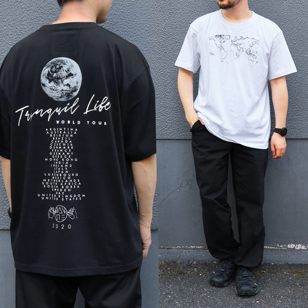【数量限定】TRANQUIL LIFE T-SHIRT[BLACK/WHITE]