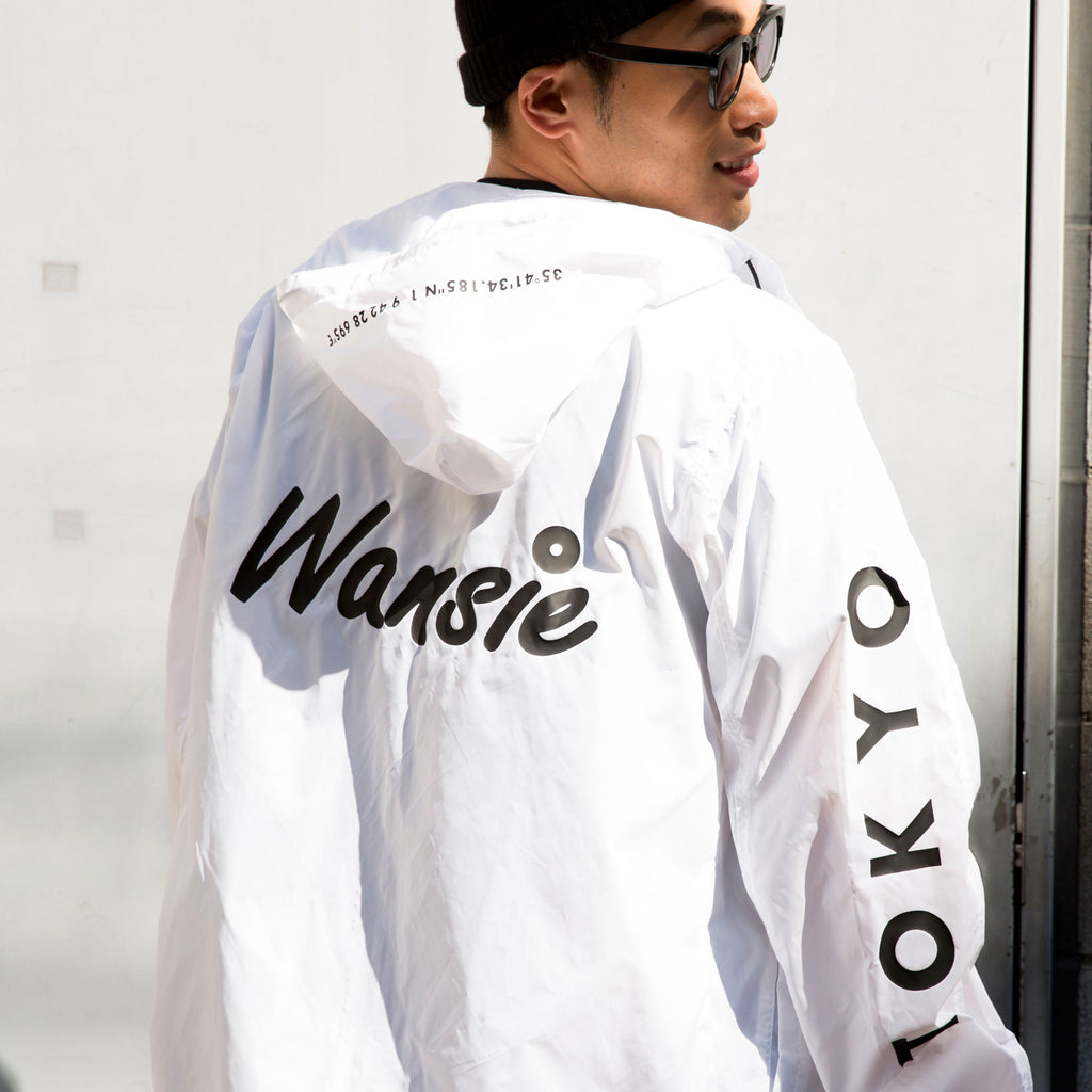 LOGO NYLON JACKET [WHITE/BLACK]