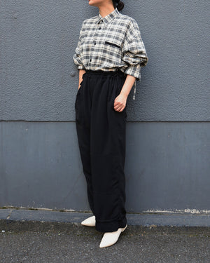 CITY&HOME EASY PANTS[BLACK]