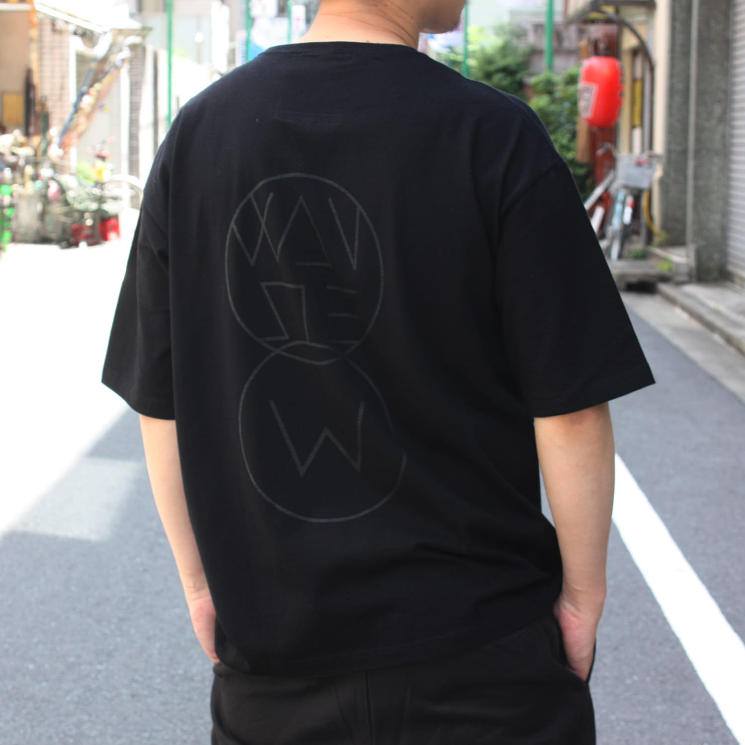 ICONIC EMBROIDERY T-SHIRT[BLACK/WHITE]