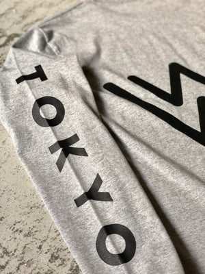 FACTORY LONG T-SHIRTS [WHITE/GRAY]