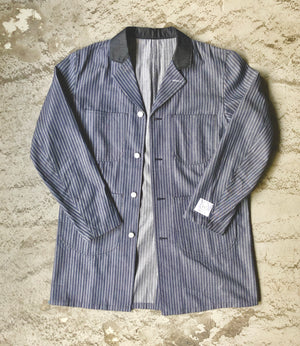 LONG WORKER COAT [STRIPE/DENIM]