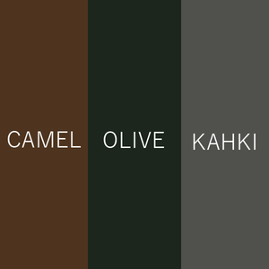 COVERED LONGCOAT [CAMEL/OLIVE/KAHKI]