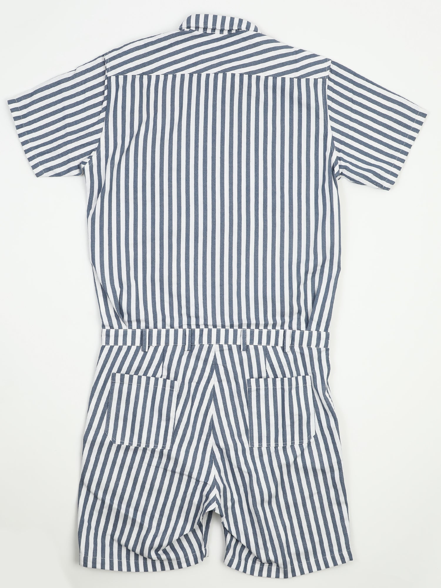 HALF-SLEEVE ALL-IN-ONE SHIRT [STRIPE]