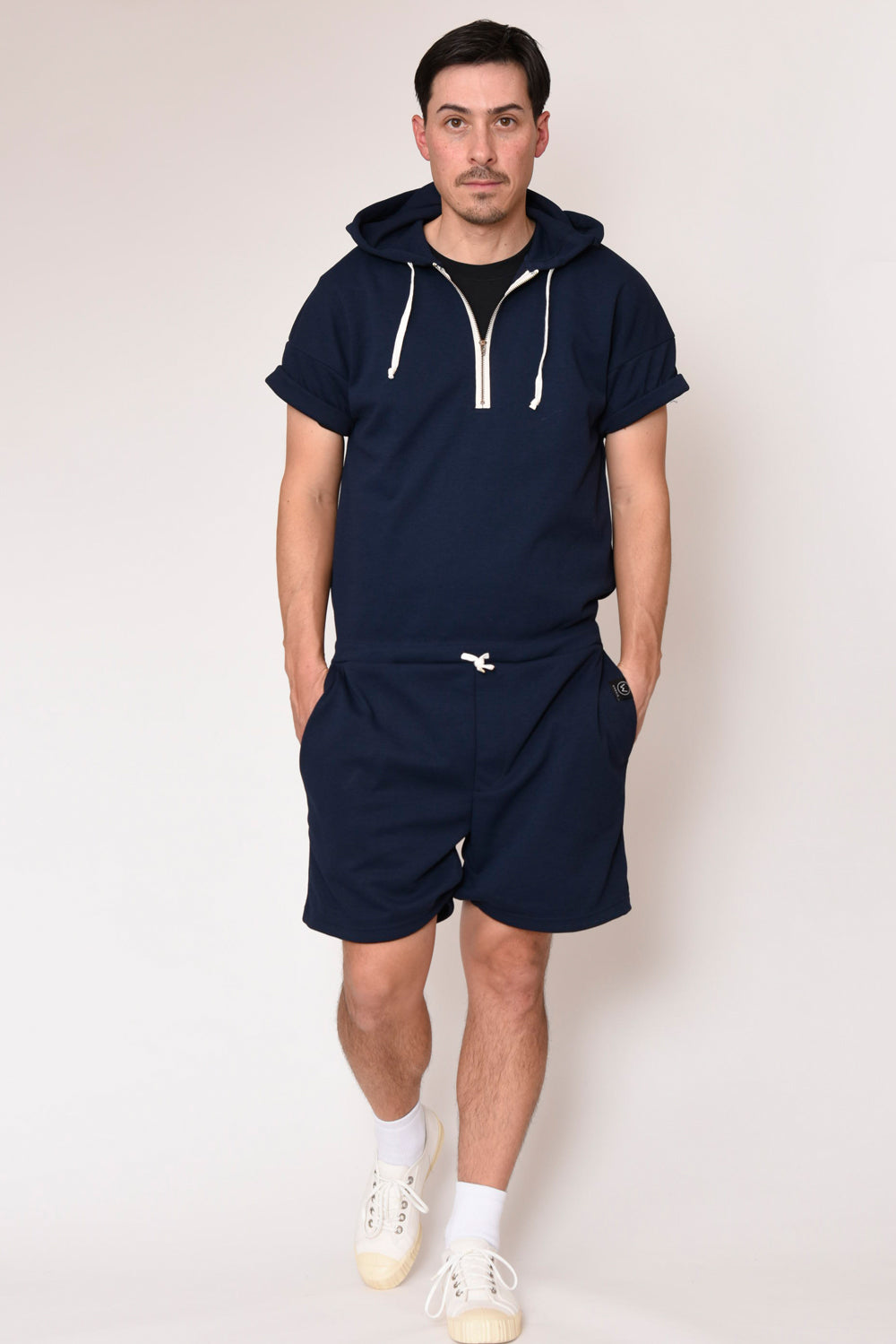 ATHLETIC DETACHABLE JUMPSUITS [NAVY/KAHKI]
