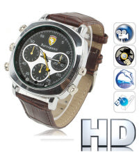 HD IR Night Vision Waterproof Watch Spy Camera 4GB -0240