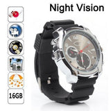 Waterproof 16GB 1080 HD Hidden Spy Watch with IR Night Vision Video Recorder MC07