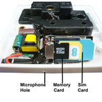 Upgraded GSM double mains socket spy bug listening device with recording facility Fully working
