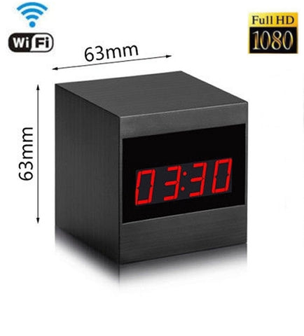Mini Wireless HD Clock Hidden Camera with Motion Detection P2P WiFi IP