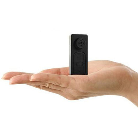 Mini Button Spy Cam Camera Video Record Secret Spy Black Picture Photo