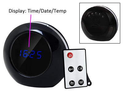 Wide Angle Digital Spy Camera Clock with Remote Control and Sound Detection