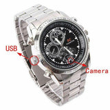 Upgraded Silver effect Covert Spy Camera Watch 16GB DVR