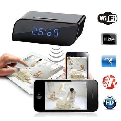 Wireless HD Clock Hidden Camera with Motion Detection P2P WiFi IP