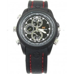 Upgraded Water Resistant I86 Covert Spy Camera Watch 16GB DVR