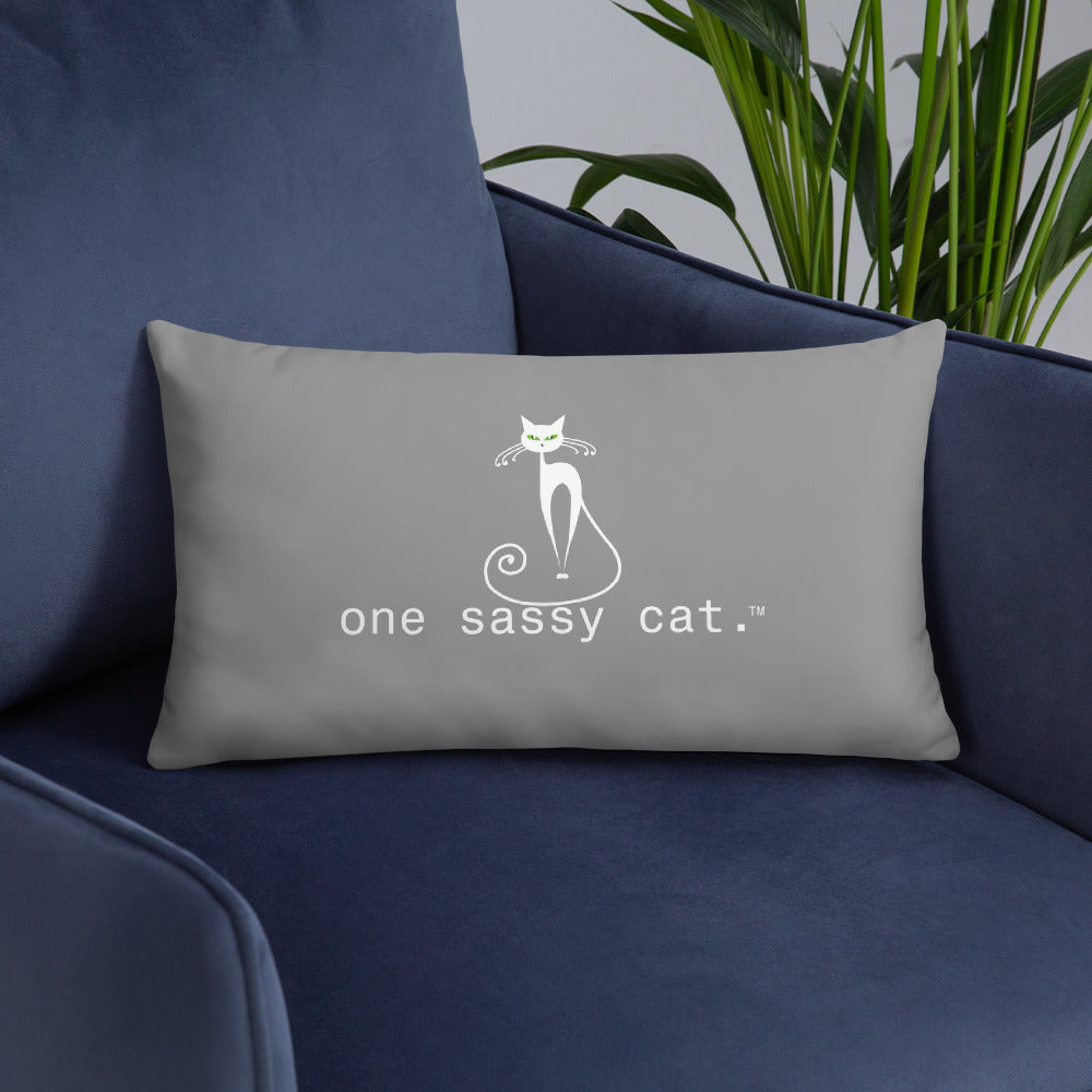Basic Pillow-one sassy cat.