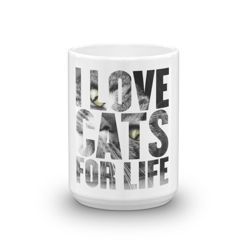 Coffee Mug-I Love Cats For Life