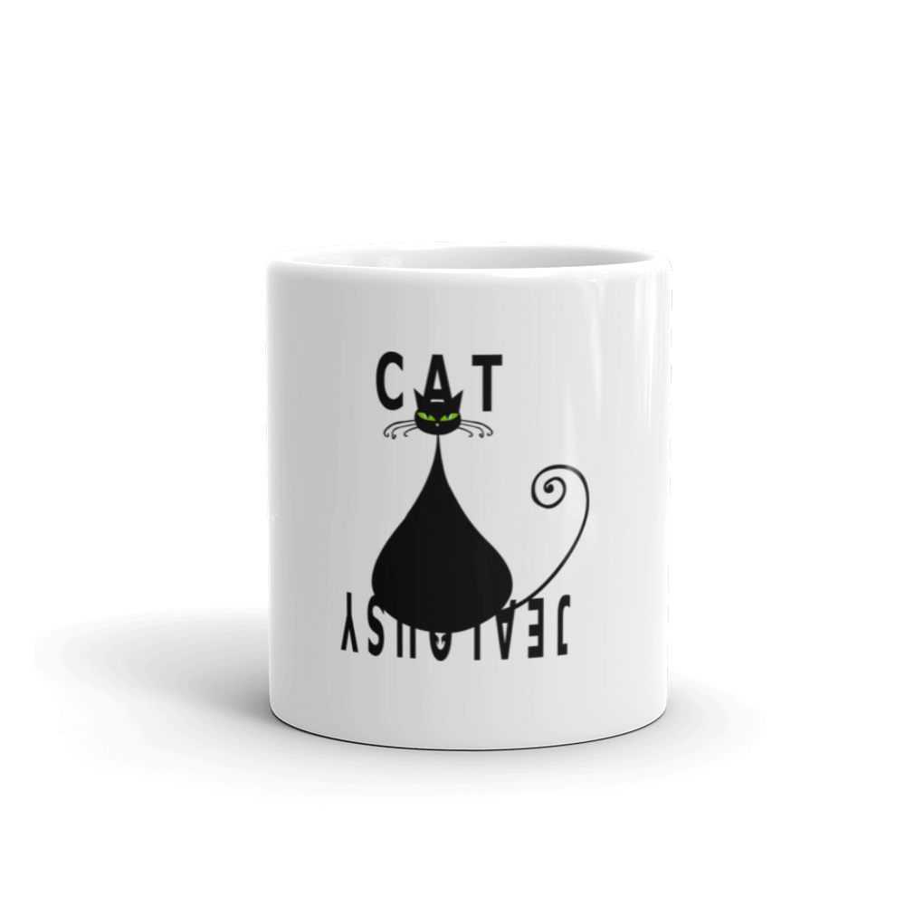 Coffee Mug-Cat Jealousy