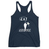 Women's Fitness Racerback Tank Cat Jealousy