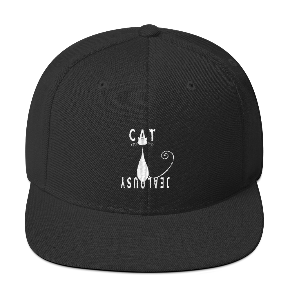 Cat Jealousy Snapback Hat