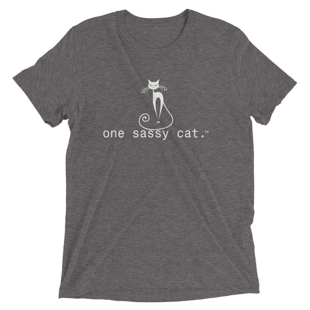 Premium Women Short Sleeve T-Shirt- one sassy cat