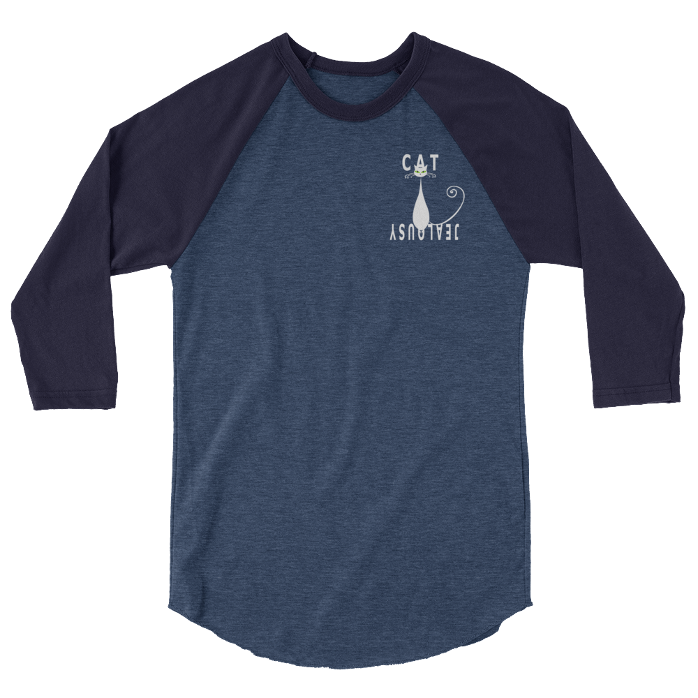 3/4 Sleeve Raglan Shirt -Cat Jealousy