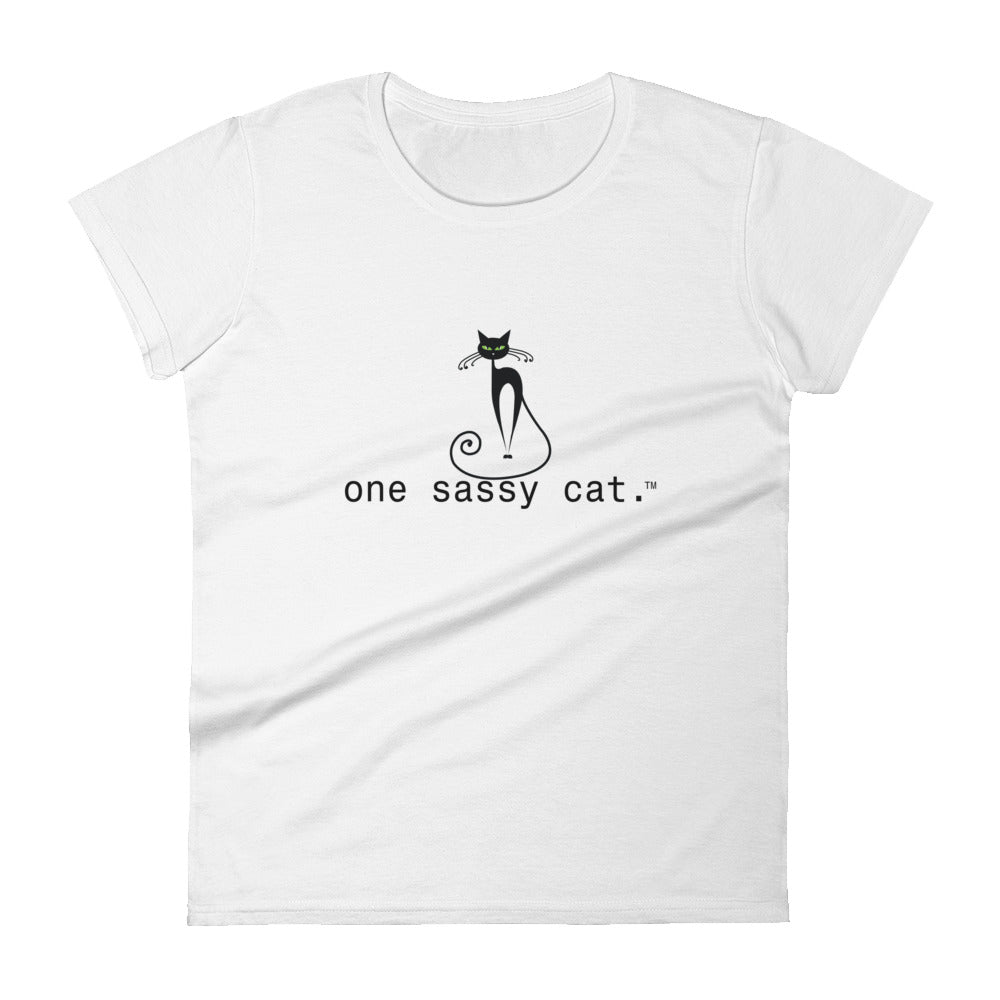 Women's short sleeve t-shirt classic fit- one sassy cat.