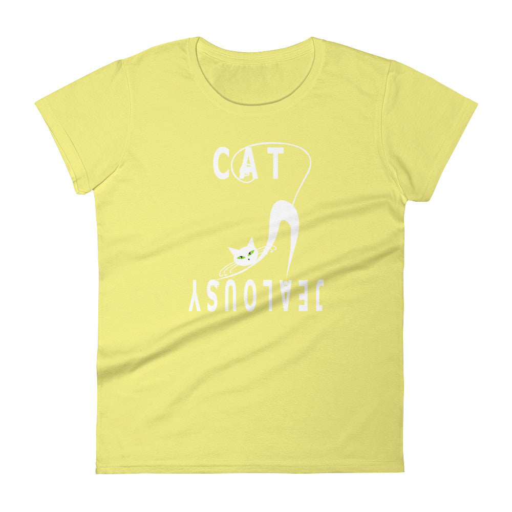 Women's Short Sleeve T-Shirt Classic Fit Cat Jealousy