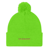 Pom Pom Knit Cap Cat Jealousy