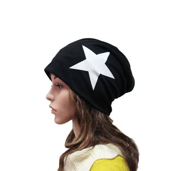 Men Women Lover Autumn Winter Cotton Blend Star Beanie Ski Baggy Knit Hat Cap