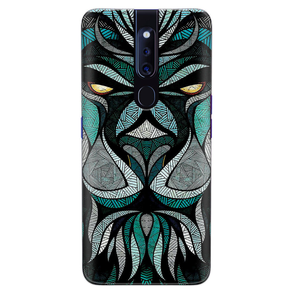 DASM United Oppo F11 Pro Printed Designer Hard Back Case Cover | Lion Ultra Minor Details | Abstract cover for Oppo F11 Pro