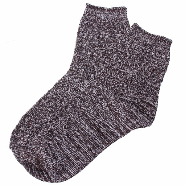 Unisex Knitted Mix Color Socks Winter Warm Foot Cotton Cord Knitting Mid Calf Hoisery For Men Women