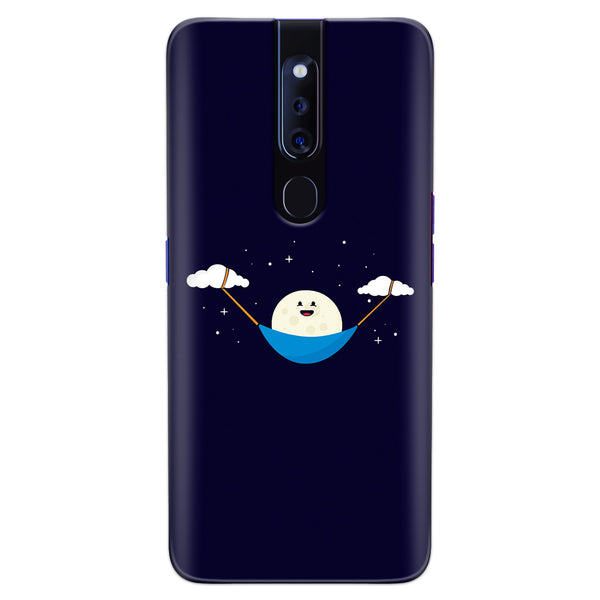 DASM United Oppo F11 Pro Printed Designer Hard Back Case Cover | Moon Swing By Cloud | Cute cover for Oppo F11 Pro