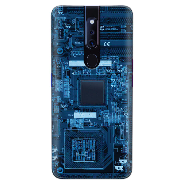 DASM United Oppo F11 Pro Printed Designer Hard Back Case Cover | Motherboard Texture | Texture cover for Oppo F11 Pro