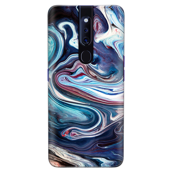 DASM United Oppo F11 Pro Printed Designer Hard Back Case Cover | Multi Color Flow | Marble cover for Oppo F11 Pro