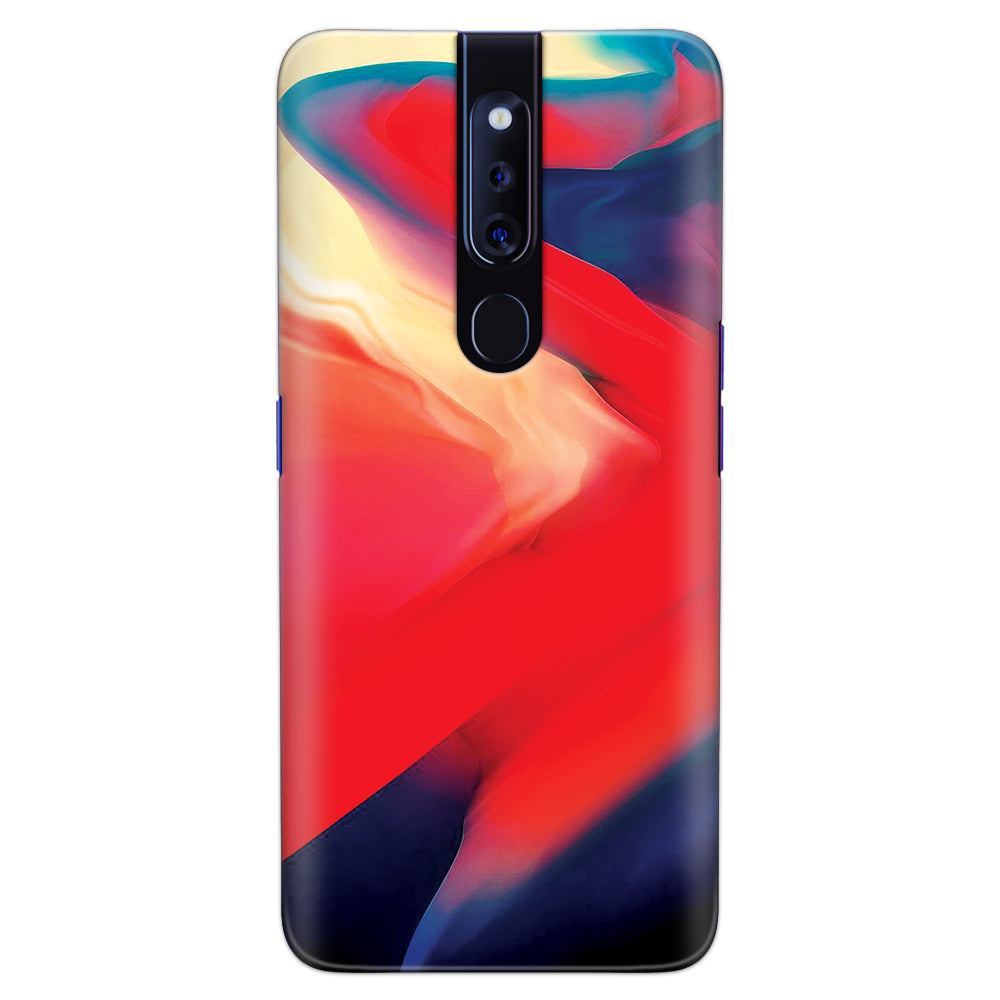 DASM United Oppo F11 Pro Printed Designer Hard Back Case Cover | Multi Color Smooth Flows | Marble cover for Oppo F11 Pro
