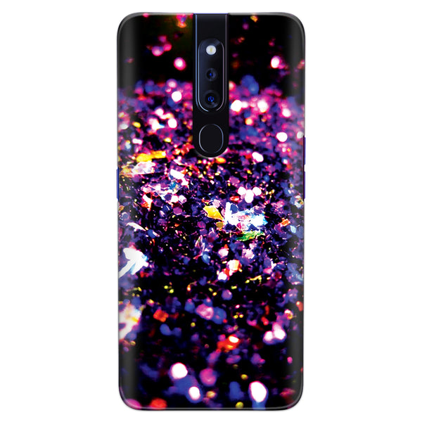 DASM United Oppo F11 Pro Printed Designer Hard Back Case Cover | Multi Colors Crystals | Sparkle cover for Oppo F11 Pro