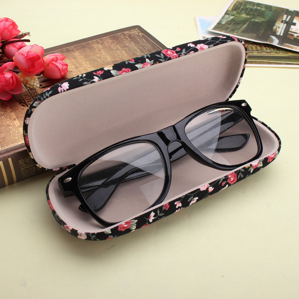 Hard Sunglass Glasses Box Floral Reading Glasses Storage Spectacle Glasses Case