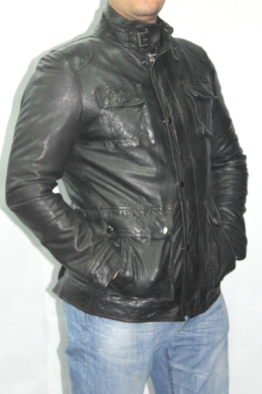 Leather Jacket 7966 Black