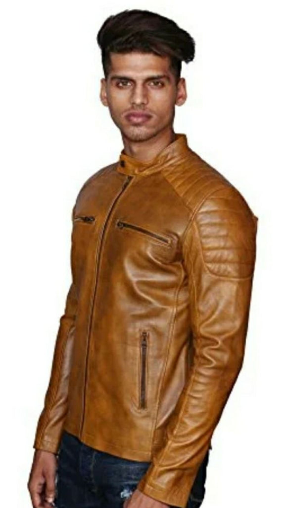 Men Genuine Leather Jacket