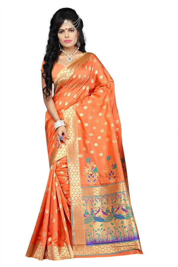 Art Silk Banarasi Saree