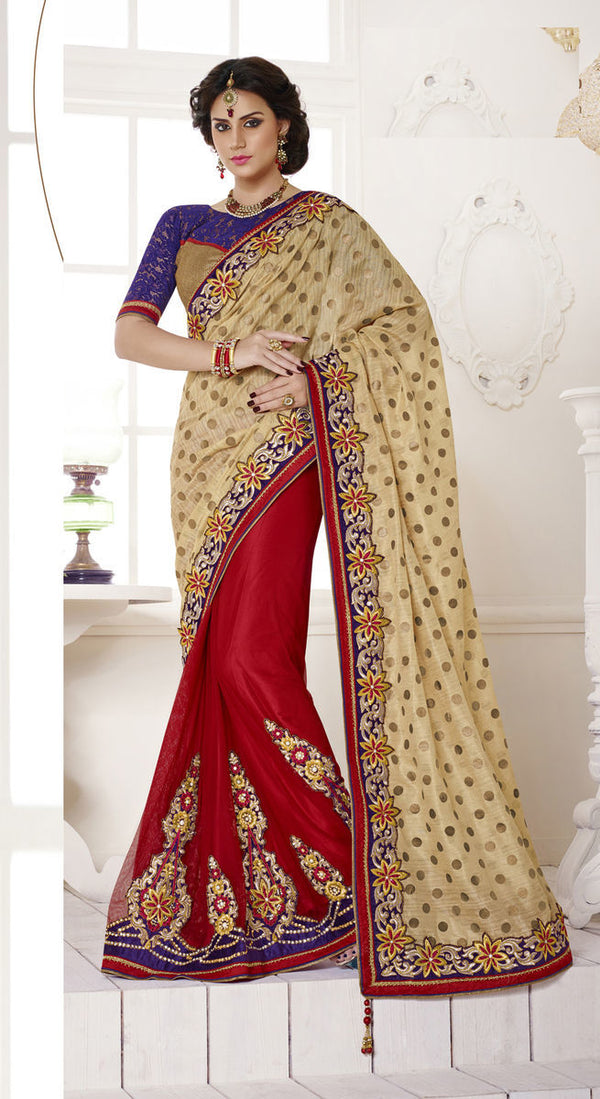 Art Bhagalpuri Silk Net Saree With Blouse