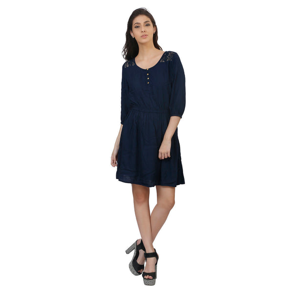 Viscose Knee Length Dress