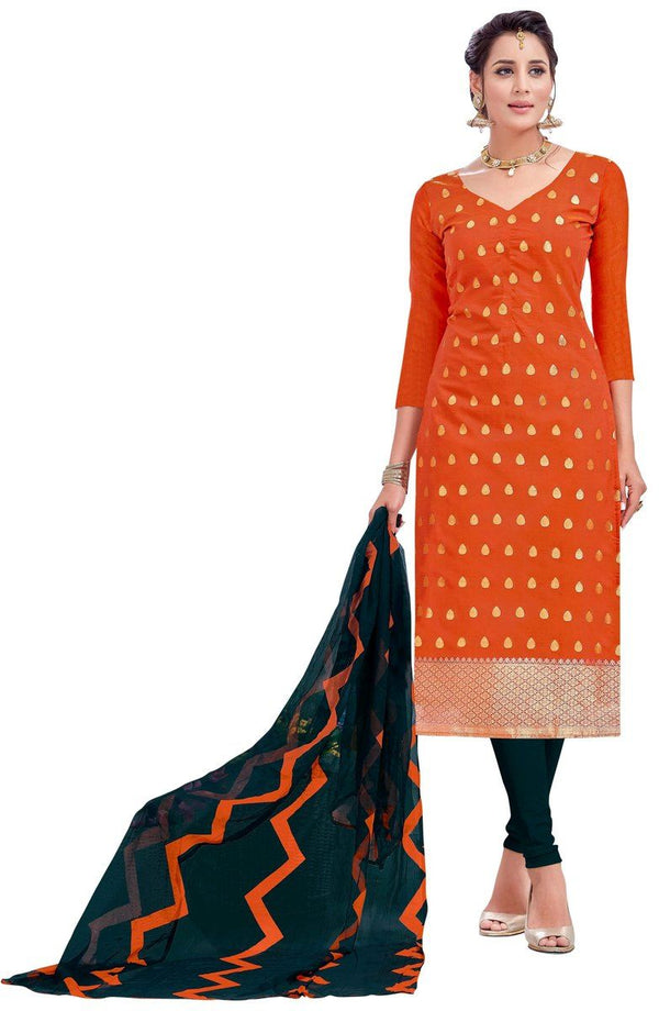Silk Printed Unstitched Suit Set