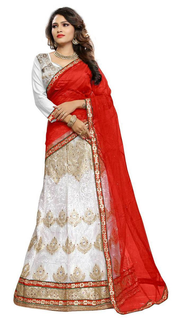 Embroidery Net Unstitched Lehenga Choli